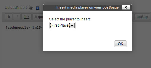 Inserting the Player